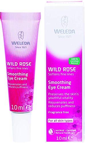 WELEDA Wildrose Glättende Augenpflege, Naturkosmetik Augencreme gegen Falten, Augenringe und Hautalterung im Gesicht für Männer und Frauen (1 x 10 ml)