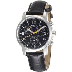 Tissot PRC 200 T1 - Reloj de caballero de cuarzo, correa de piel color negro