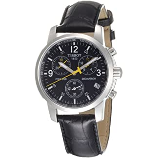 Tissot PRC 200 T1 – Reloj de Caballero de Cuarzo, Correa de Piel Color Negro