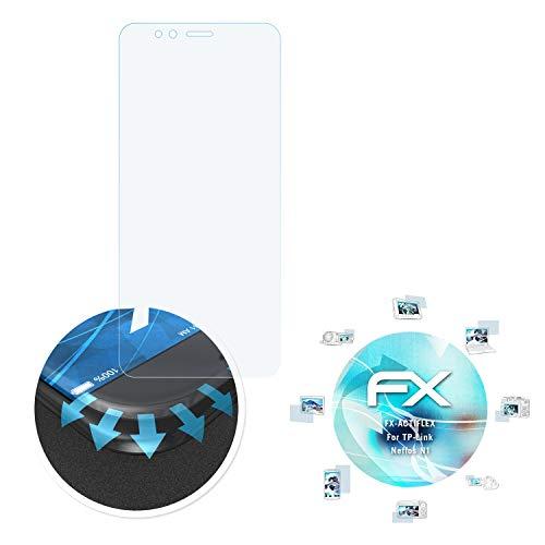 atFolix Schutzfolie passend für TP-Link Neffos N1 Folie, ultraklare & Flexible FX Bildschirmschutzfolie (3X)