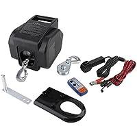 11000lbs/4900kg Cabestrantes eléctricos 12 V con Cuerda de alambre y Wireless remote control,Ideal para autos y barcos