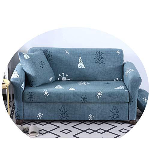 Gray Cartoon Stretch Sofa Cover All-Inclusive Slip-Resistant Sectional Elastic Couch Cover Towel Single/Two/Three/Four-Seater 9 1-Seater 90-140cm -
