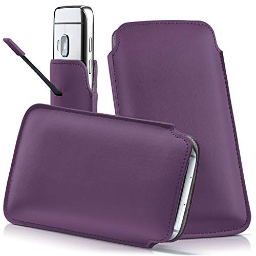 moex HTC Desire 620   Hülle Lila Sleeve Slide Cover Ultra-Slim Schutzhülle Dünn Handyhülle für HTC Desire 620G Case Full Body Handytasche Kunst-Leder Tasche