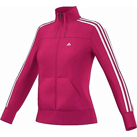 adidas Chaqueta de entrenamiento Essentials 3Stripes Track Top, mujer, Pink Buzz S10, XXS