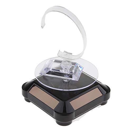 Sockel Anzeigen (Homyl 360 Grad Drehteller mit solarbetrieben Basis und Uhren Ständer Ausstellungsstand Schmuck Anzeigen Sockel - Schwarz)