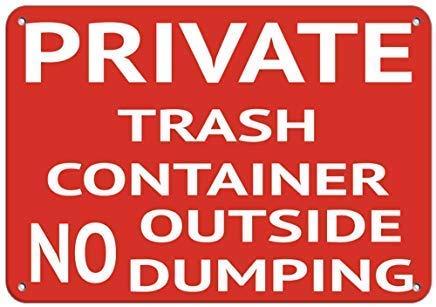 Froy Trash Container No Outside Dumping Security Vinyl Hazard Eisen-Plakat-Malerei-Plaketten-Metallweinlese-Dekorations-Handwerk für Café-Bar-Garagen-Haus