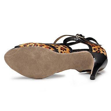 Scarpe da ballo - Personalizzabile - Da donna - Balli latino-americani / Salsa / Samba - Tacco su misura - Raso - Leopardato leopard
