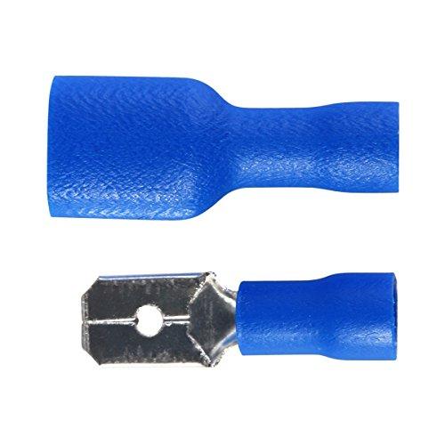 ++ 100 Flachstecker blau Steckmaß 2,8 für Kfz