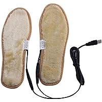 Kalttoy - Plantillas calefactables para zapatos con enchufe USB eléctrico, película de felpa, calcetines, almohadillas.