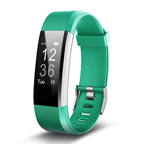 Omnix: Id115 Plus HR Smart Wristband Heart Rate Monitor With 0.96 Inch OLED Display - Bluetooth 4.0/ Life Waterproof / Android 4. 4 (Green)