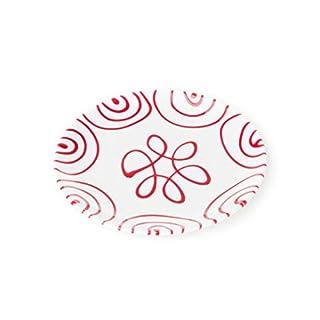 GMUNDNER KERAMIK Dessertteller Cup | Durchmesser : 20 cm | Rotgeflammt | Geschirr, handgemacht in Österreich