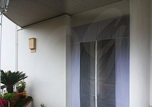 Tenda zanzariera magnetica con calamita 250 x 160 cm bianco per porta balcone