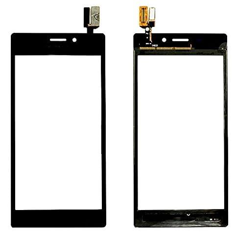 ixuan Vitre Tactile Sans Ecran LCD de Rechange pour Sony Xperia M2 D2302 D2303 D2305 D2306 (Noir) avec