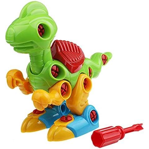 Giocattolo Di Formazione,WINWINTOM Giocattoli Educativi Smontaggio Dinosaur Design Per I Bambini (Riempito 17 Gioiello)