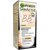 Garnier Skin Active BB Cream Clásica Perfeccionador Prodigioso para Pieles Normales, Tono Medio SPF15 con Vitamina C - 50 ml