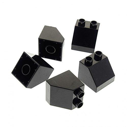 5 x Lego Duplo Bau Basic Dach Schräg Stein 45° schwarz 2x2 für Set 10545 4785 4779 4777 9125 3325 4863 6474