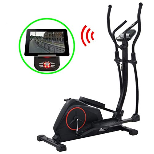 Festnight Programmable Elliptical Trainer XL 18kg Rotating Mass Phone App Home Gym Fitness Training Exercise