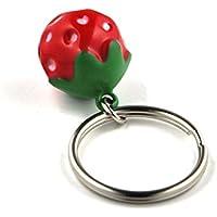 SCHMUCKZUCKER Schlüsselanhänger Erdbeer Glöckchen