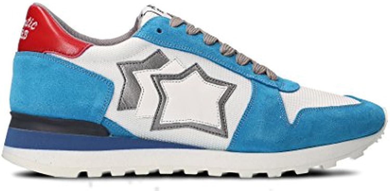Atlantic Stars Herren ARGOBANYLBBNY Hellblau Leder Sneakers