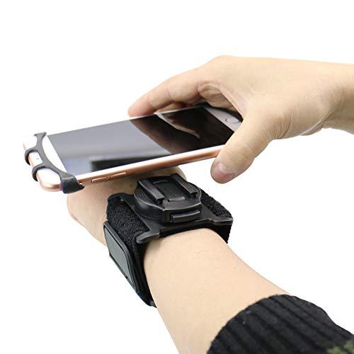 NACHEN Braccialetto Rotante Portatelefono Outdoor Attrezzature Sportive Equitazione Polso Telefoni Cellulari Staffa,Black