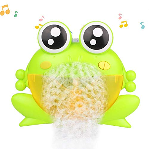 Volwco Baby Bubble Bath, Frog Bubble Machine, Baby Bath Toys, Automatic Bubble Maker, Baby Bubble Bath Toys, Musical Bubble Blower, Interactive 39 Nursery Rhymes Bubble Bathtub Toys Happy Tub Time