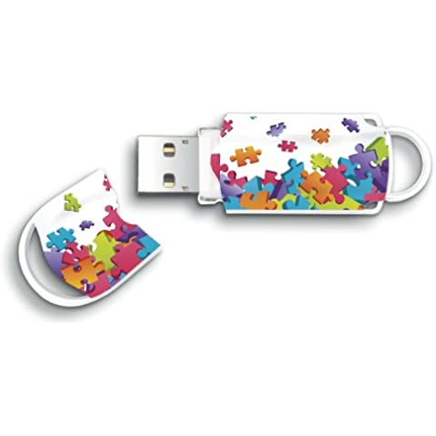 Integral Memory Xpression Puzzle - Memoria USB de 16 GB, multicolor
