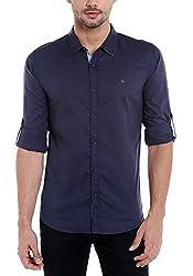 Spykar Mens Cotton Slim Fit Casual Shirt (Msh-01Ag-Es-013_Black_Medium)