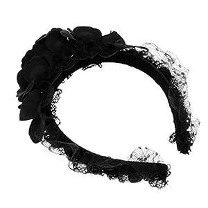 MagiDeal Gothic Steampunk Spitze Stieg Blume Stirnband Lolita Haarband Maskerade Party