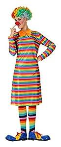 Atosa- Disfraz payasa Rayas, M-L (7385)