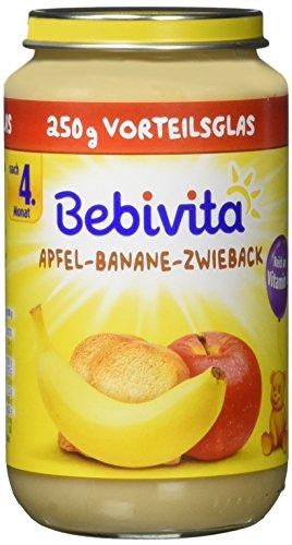 Bebivita Frucht und Getreide, Apfel-Banane-Zwieback, 6er Pack (6 x 250 g)