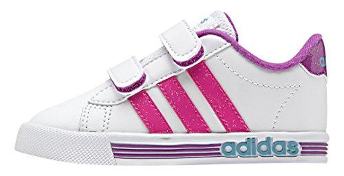 adidas Daily Team Inf, Chaussures Mixte Bébé Blanc / rose / vert (blanc Footwear / rose impact / vert impact)