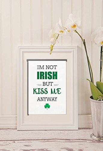 Lucky Kiss (Kunstdruck St. Patrick's Day Kiss Me I'm Irish Home Decor - Kiss Me I'm Irish Printable File - Grün - Irish Blessing - Lucky Wall Art - Home Decor)