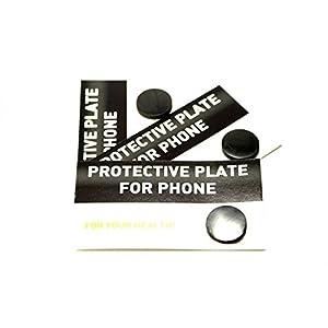 Schungit-Platte, selbstklebend, rund, Schutz gegen Strahlen fuer Handys