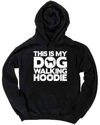 HippoWarehouse This Is My Dog Walking Hoodie unisex Hoodie hooded top