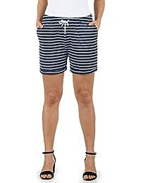 94df98bbb24 Desires Lena Short en Sweat Bermuda Pantalon Court Femme Extensible Coupe  Relaxed