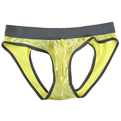Bfmyxgs Dessous Erotische Baumwollspitze Tanga Sex Leathernew Männer Sexy Dessous Bronzing Aushöhlen Gesäß U Konvexen Design Unterhosen Charming (Reebok-boxer-shorts)