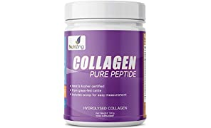 Poudre de collagène hydrolysé 100% naturel NutriZing - A base de protéine de bœufs d'élevage - Facile à dissoudre - 10000 mg - Fabriqué en Suède - Certifié Halal & Casher.