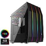 Aerocool KLAW - Caja PC, ATX, Cristal Templado, RGB Frontal, 3 Ventiladores RGB