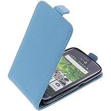 Funda para Doro Liberto 820 Mini protectora tipo flip para móvil azul claro