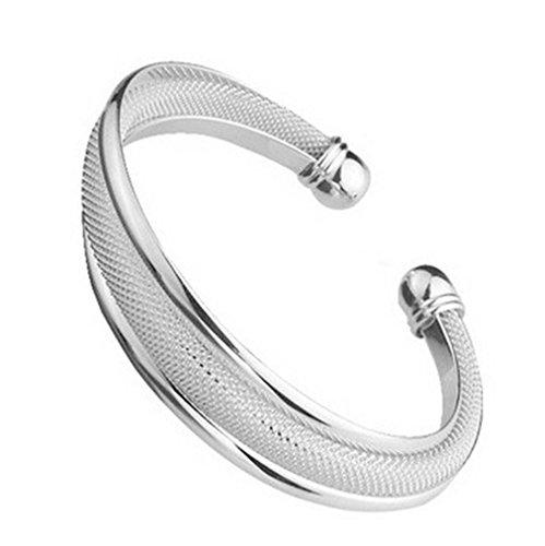 GYJUN Armbänder Manschetten-Armbänder Sterling Silber Others Modisch Party Schmuck Geschenk Silber,1 Stück , screen color