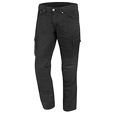 Germas Bike Jeans Cargo Combat Kevlar Seat Mason With Knee Protection–Black, 40/34