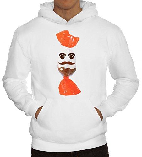 Fasching Verkleidung Hoodie Gruppen & Paar Kostüm Schoko und Milch Kostüm, Größe: XL,Weiß (Coole Ideen Gruppe Halloween Kostüme)