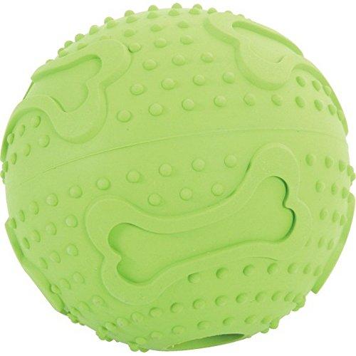 ZOLUX caoutchouc jeu de balle avec l'os 7,5cm - Jouets pour chiens