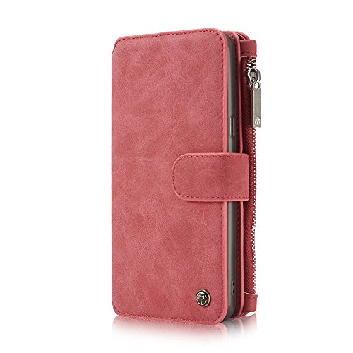 Galaxy S8 Plus Hülle,Zipper Card Slots Kartensteckplätze Geldtasche Clutch Cover Zipper Geldbörse Case Smart Wallet [Standfunktion][Premium Leder][Magnetverschluss] Brieftasche Tasche Phone Sleeve Cellular Card