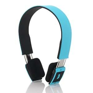 deleyCON Bluetooth Headset Kopfhörer Ohrhörer Sport - [Blau] - Stereo - verstellbare Größe - für Handy, PC, Tablet, Ipad, iPhone, Smartphone, Apple Mac Book uvm.