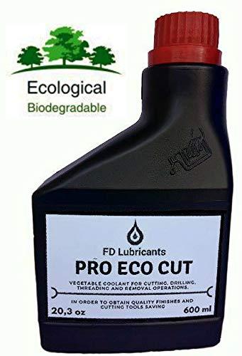 Vollständiges Loop-Öl aus pflanzlichen Ursprungsprodukten nicht emulsionierbar für das Schneiden von Eisenmaterialien und nicht (Eisen, Stahl, Aluminium, Titan, Glas). Umweltfreundliches Schmiermittel für Schneidearbeiten, Gewinde, Bohren, Schminken Ideal zum Schutz von Werkzeugspitzen und hochwertigen Oberflächen