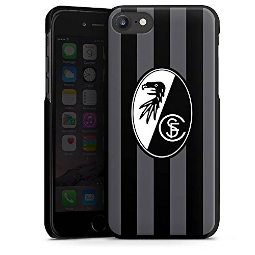 Apple iPhone 5 Silikon Hülle Case Schutzhülle SC Freiburg Fanartikel SCF Hard Case schwarz