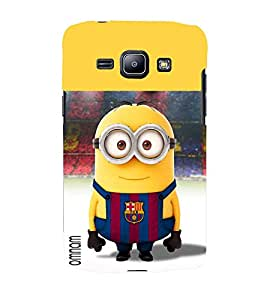 Omnam Minion Wearing Fcb Dress Printed Desginer Back Cover Case For Samsung Galaxy J1