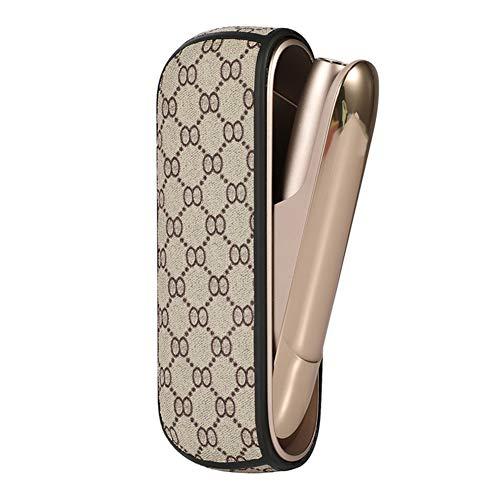 Leder 3 Tasche (six-day, Etui für IQOS 3.0, E Zigarette Tasche, Zigarettenspitze PU Leder Etui Zigarrenleder Zubehör, Ohne Nikotin, Typ 4 (H02))