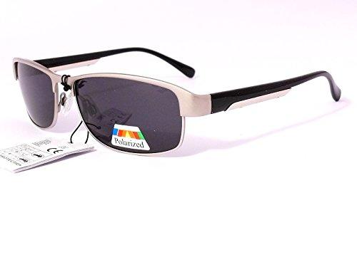 lunettes de soleil polarisantes polarisées verres polarisés homme femme 201104 (monture or verres vert, largeur:135mm hauteur:36mm)
